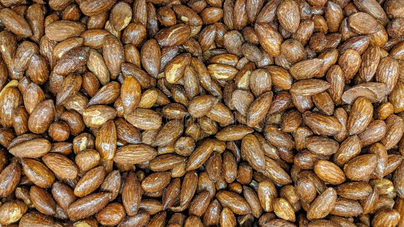 Roasted almonds in loose. Can be used as a background or wallpaper and for other possibility or to modify to your taste vector illustration