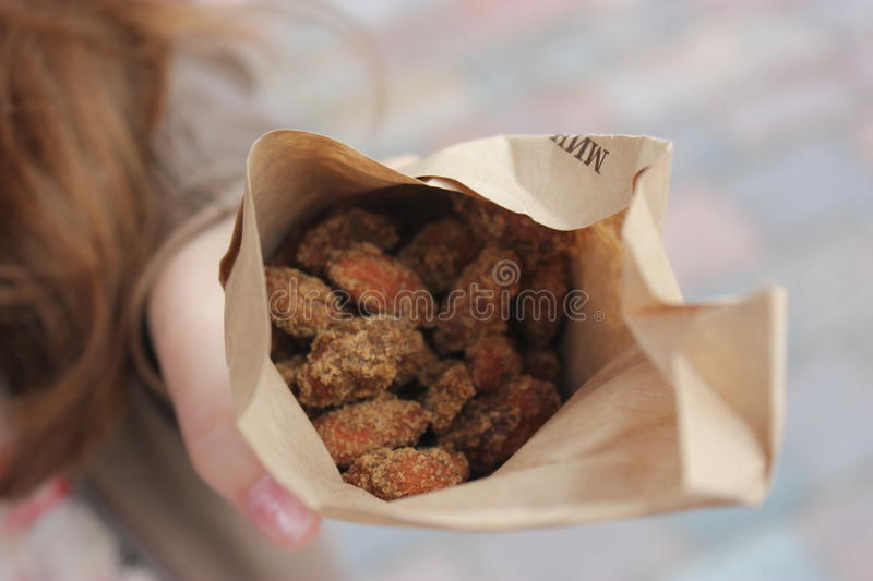 Roasted almonds royalty free stock photo
