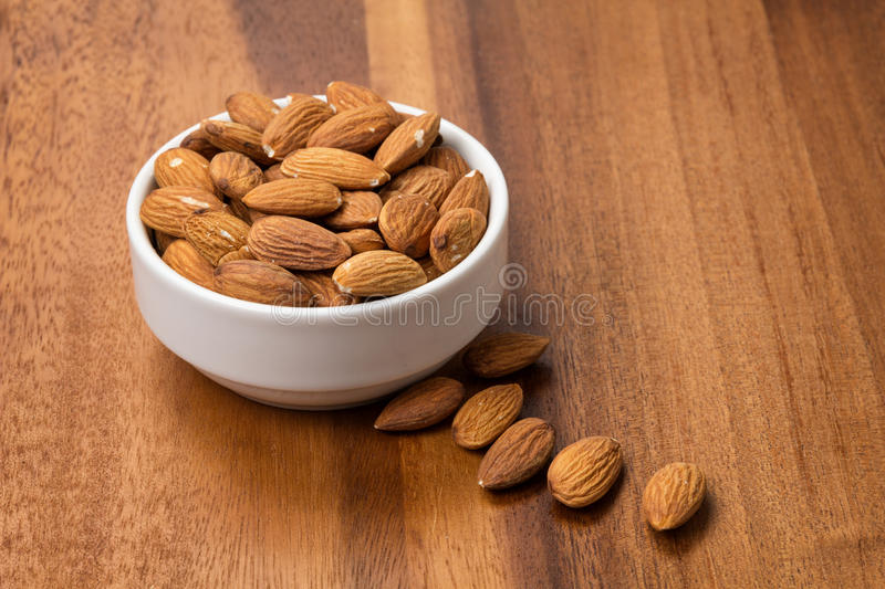 Download Roasted Almonds In White Porcelain Bowl Stock Image - Image: 29226973