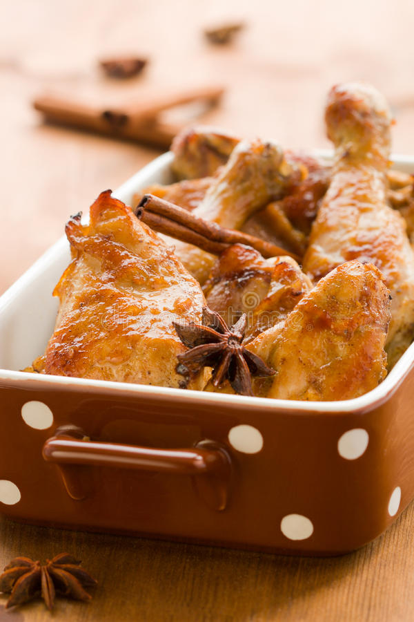 Roasted aromatic chicken stock image