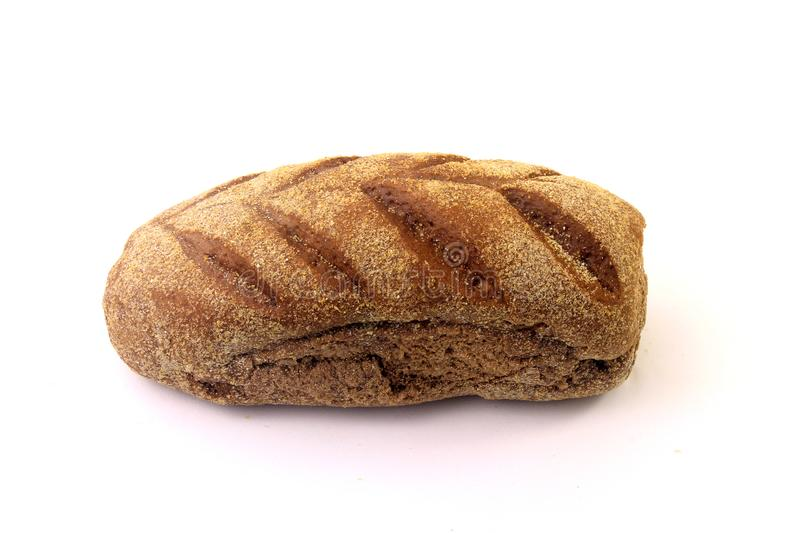 Roasted Australian bread loaf on white background. Traditionally this bread is made with chocolate powder, brown sugar and honey royalty free stock images