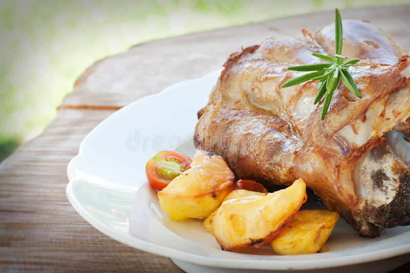 Roasted and baked Veal royalty free stock images