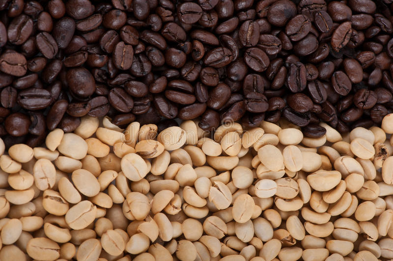 Download Roasted brown coffee beans stock image. Image of instant - 39501713
