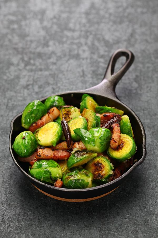 Free Roasted Brussels Sprouts With Bacon Royalty Free Stock Images - 109411849