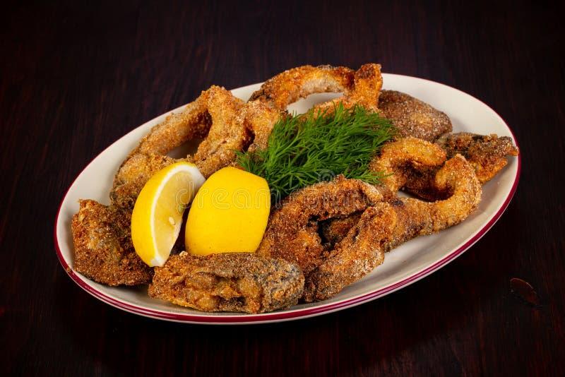 Roasted carp fish stock photo