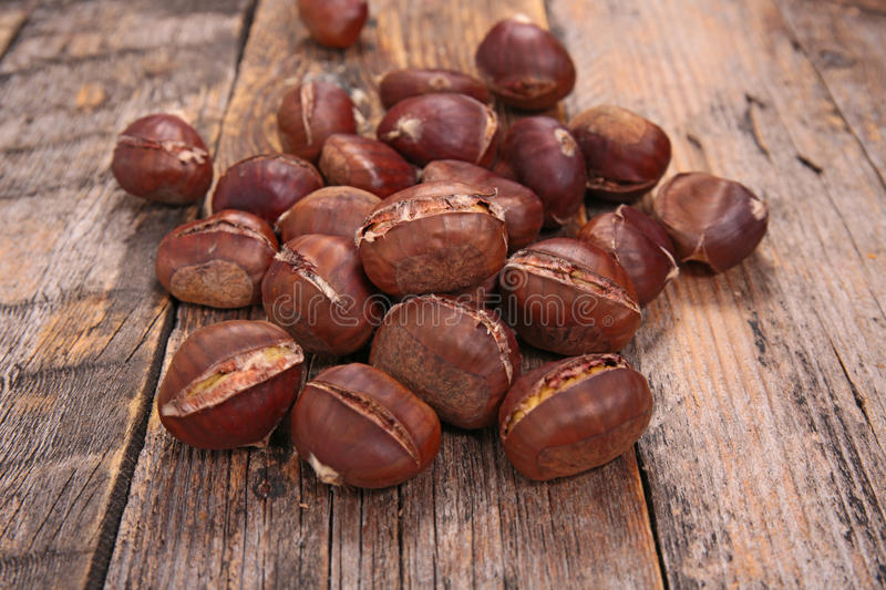Roasted chestnut royalty free stock images