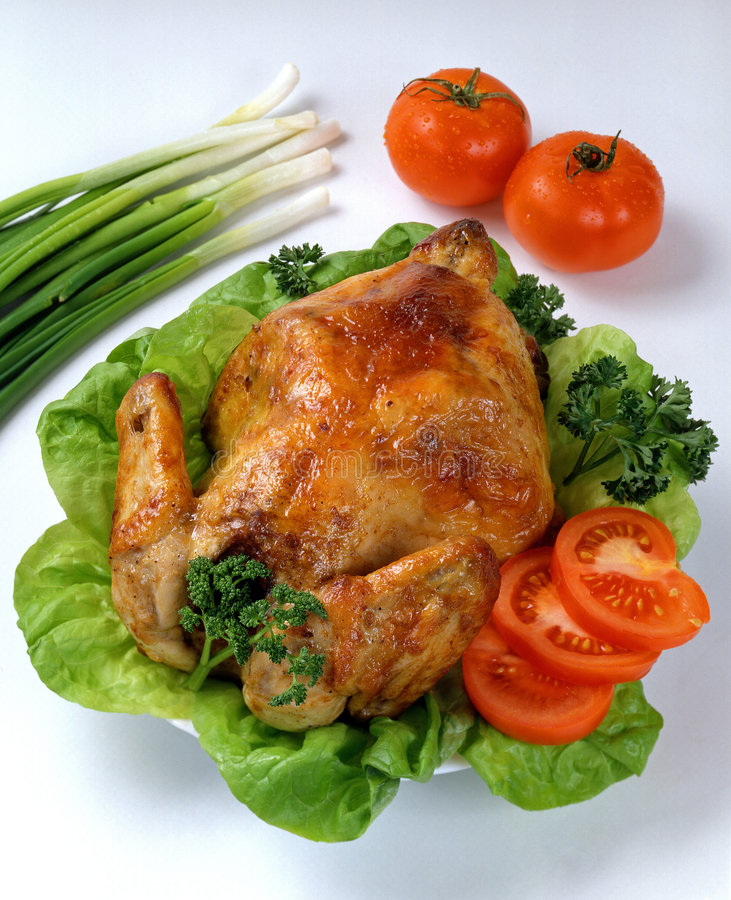 Roasted Chicken. Tasty Crispy Roast Chicken. Roasted Chicken stock photos