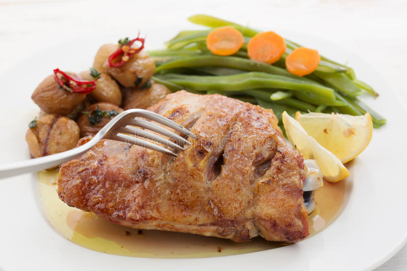Download Roasted Chicken Breast With Chestnuts Stock Image - Image: 28177365