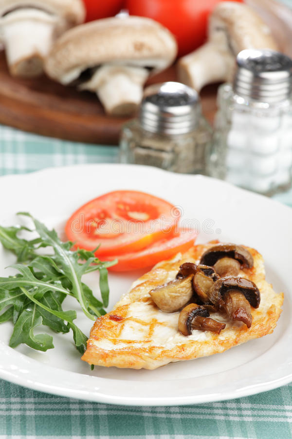 Download Roasted Chicken Breast With Mushrooms Royalty Free Stock Image - Image: 10190456