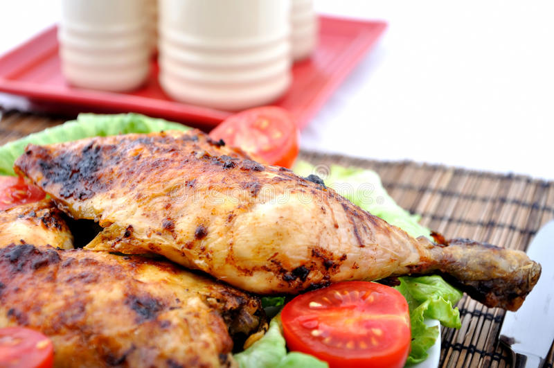 Download Roasted Chicken Drumsticks And Vegetables Stock Photo - Image of colours, fried: 15549442
