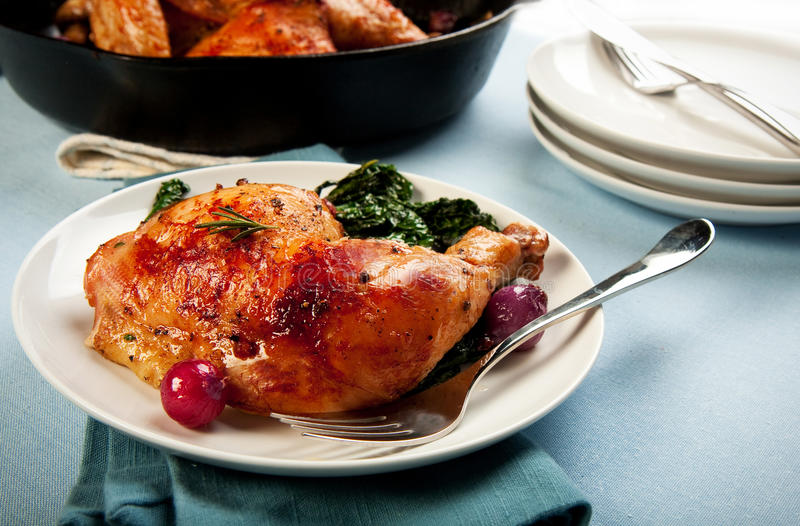 Roasted Chicken Leg stock photography