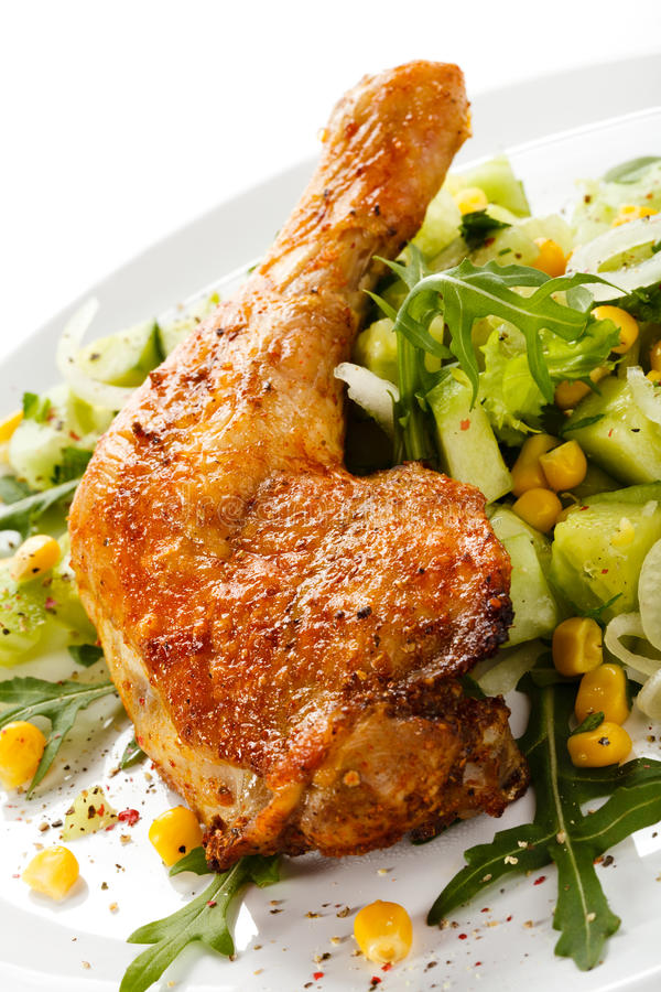 Download Roasted chicken leg stock photo. Image of baked, colored - 23720110