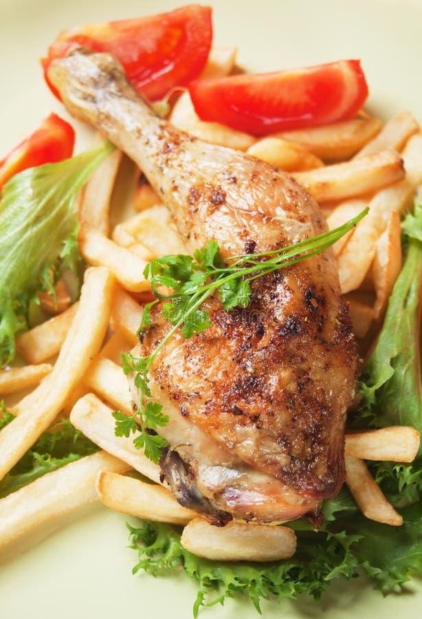 Roasted Chicken Leg Stock Photography