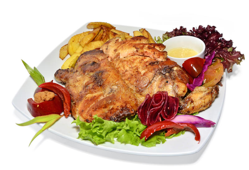Download Roasted Chicken With Vegetables Stock Image - Image: 28387737