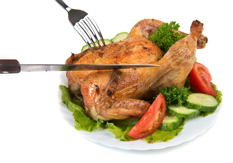 Roasted chiken royalty free stock photography