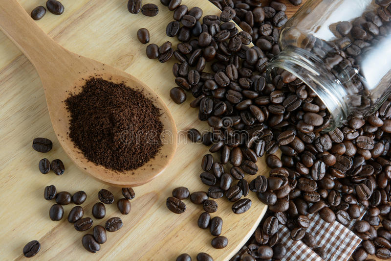 Roasted coffee stock photos
