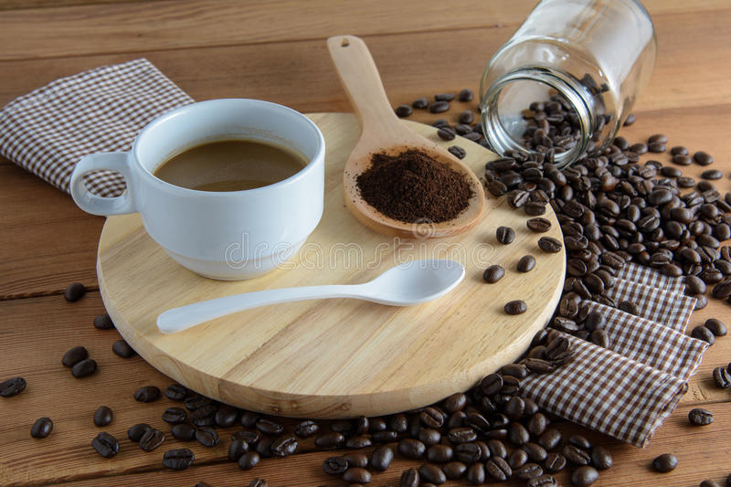 Roasted coffee stock image