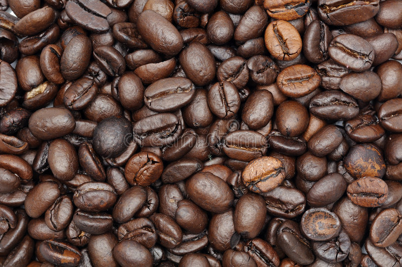 Roasted coffee beans background royalty free stock photos