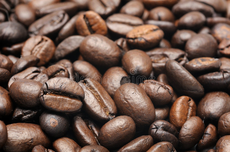 Roasted coffee beans background stock photography