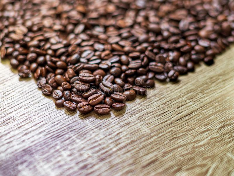 Roasted coffee beans background. Can be used as a backgroun stock photography