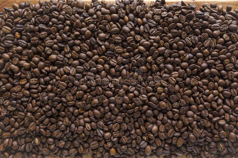 roasted coffee beans background top view royalty free stock photo
