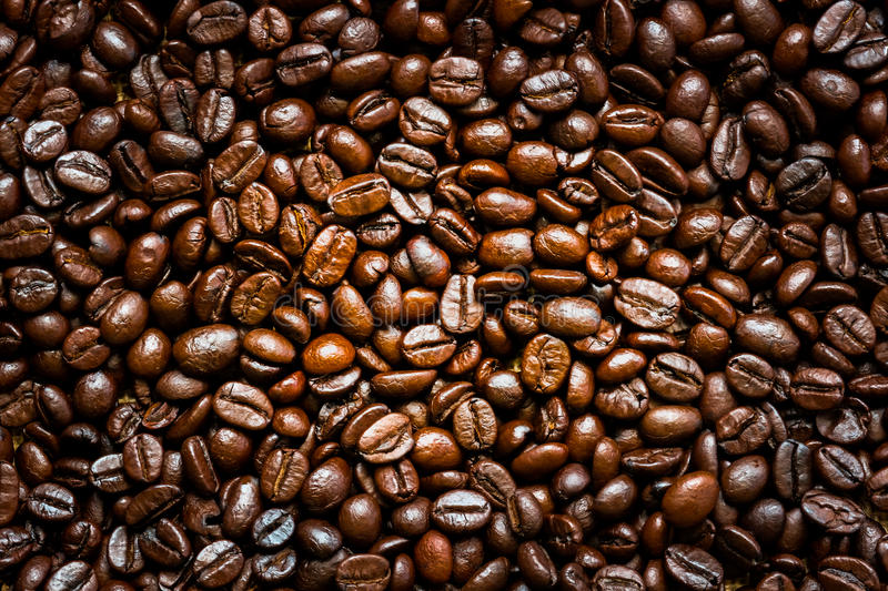 Roasted coffee beans. royalty free stock photos