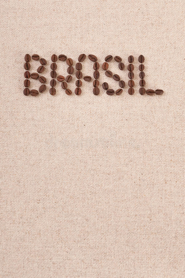 Download Roasted Coffee Beans On Canvas : Brasil Stock Image - Image: 24217731