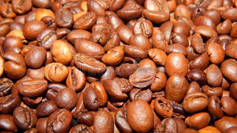 Download Roasted coffee in beans stock photo. Image of dark, aroma - 83710358