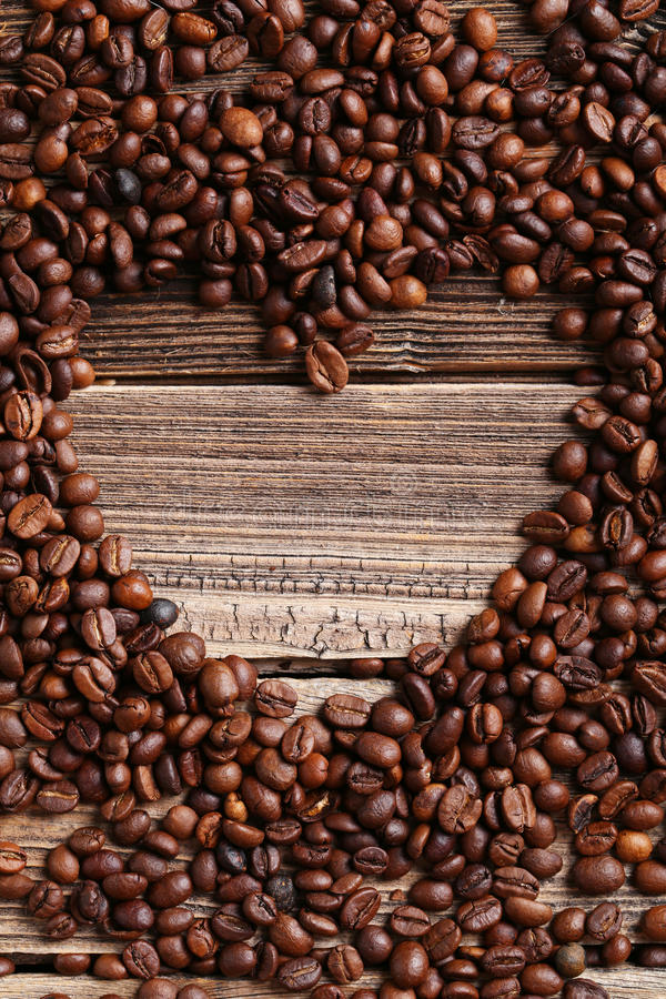 Roasted coffee beans heart royalty free stock photography