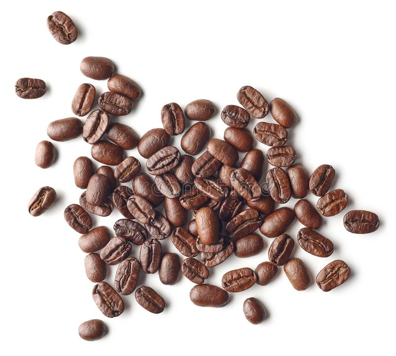 Free Roasted Coffee Beans Isolated On White Background Stock Photography - 144903192