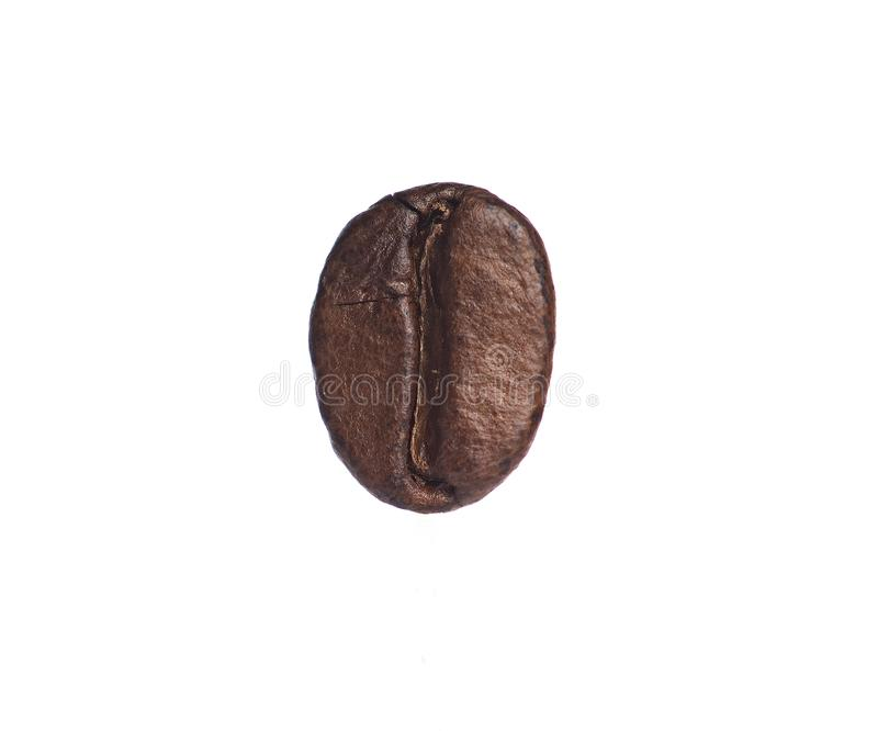 Roasted coffee beans isolated on white background with clipping path stock photo