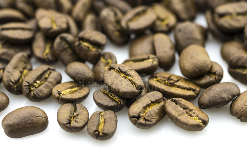 Download Roasted Coffee Beans Isolated In White Background Stock Photo - Image: 83714478