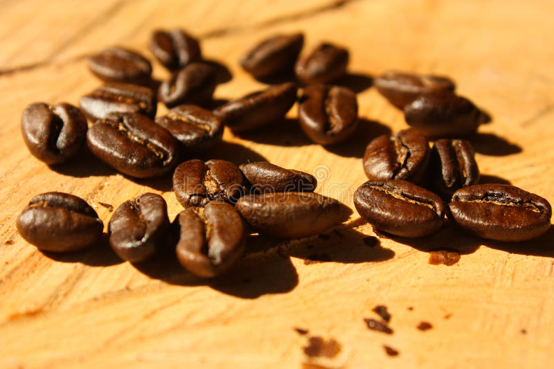Roasted coffee. Colombia royalty free stock photos