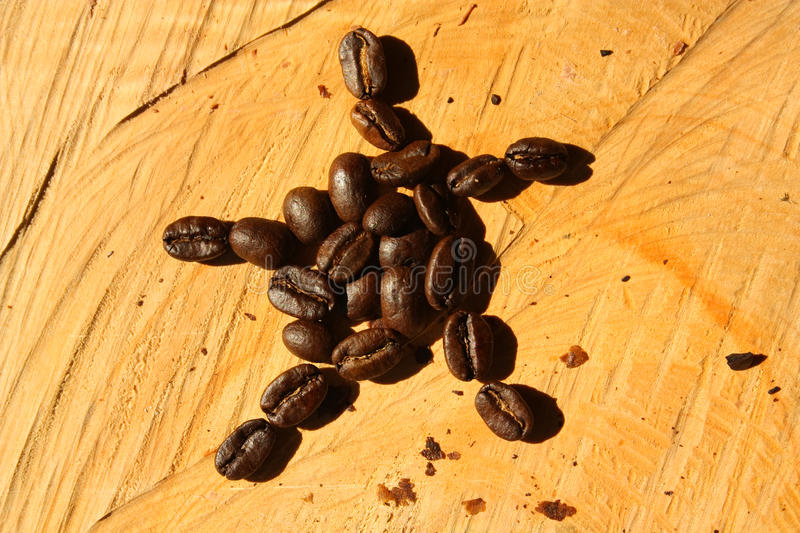 Roasted coffee. Colombia stock photo
