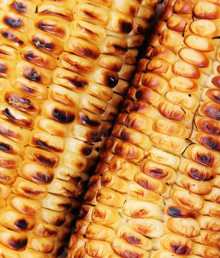 Roasted corn wallpaper. Wallpaper and close view of grilled corn stock image