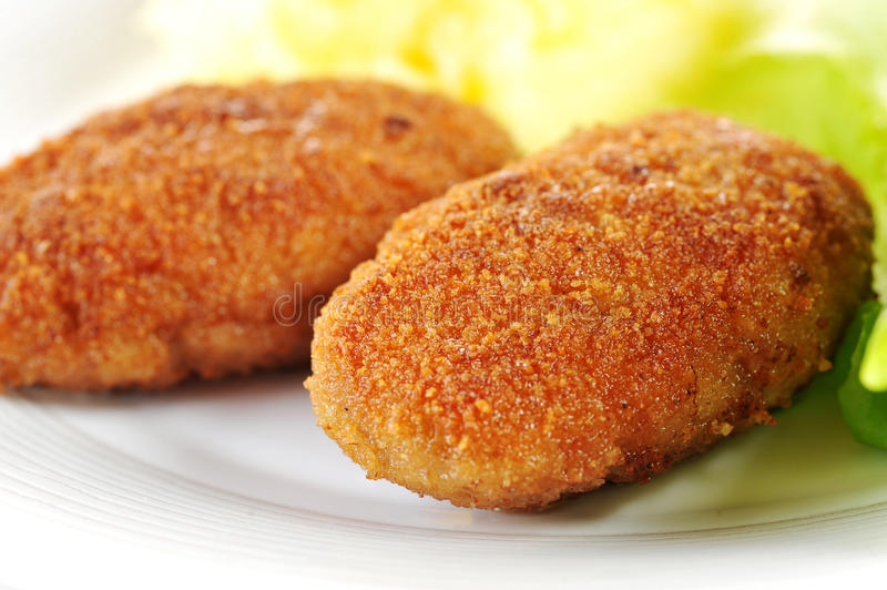 Roasted cutlets royalty free stock image