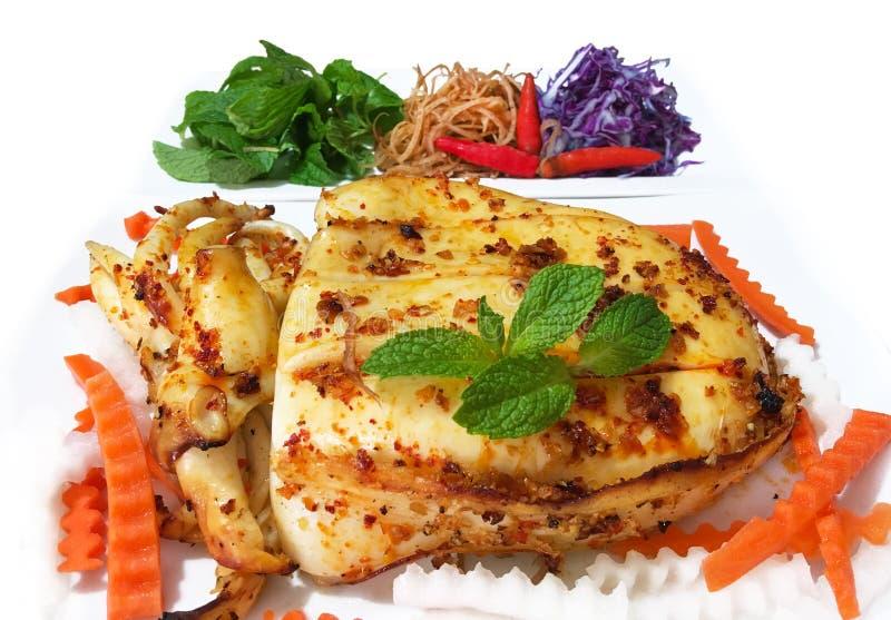 Roasted Cuttlefish stock images