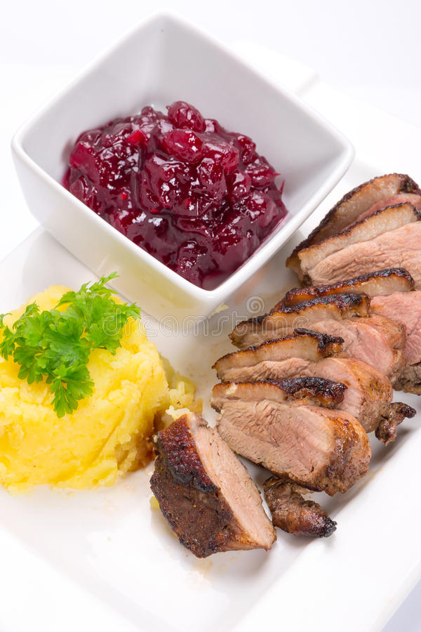 Download Roasted Duck Breast With Potatoes Stock Image - Image: 29782555