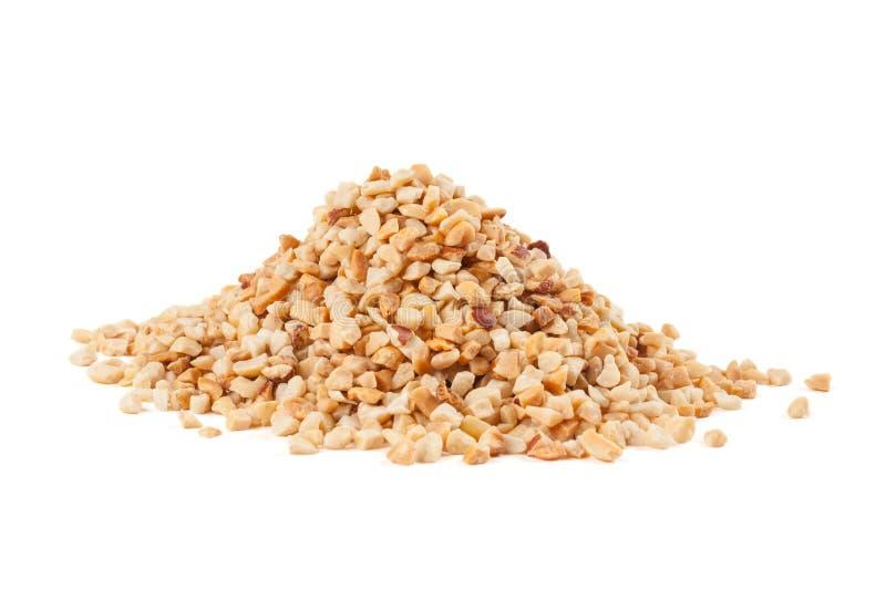 Roasted esmagou amendoins imagem de stock royalty free
