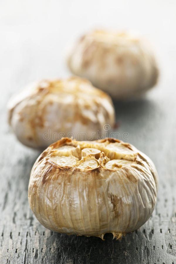 Roasted garlic bulbs royalty free stock image
