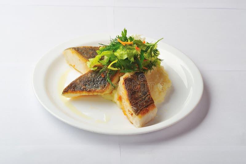 Roasted halibut stock images