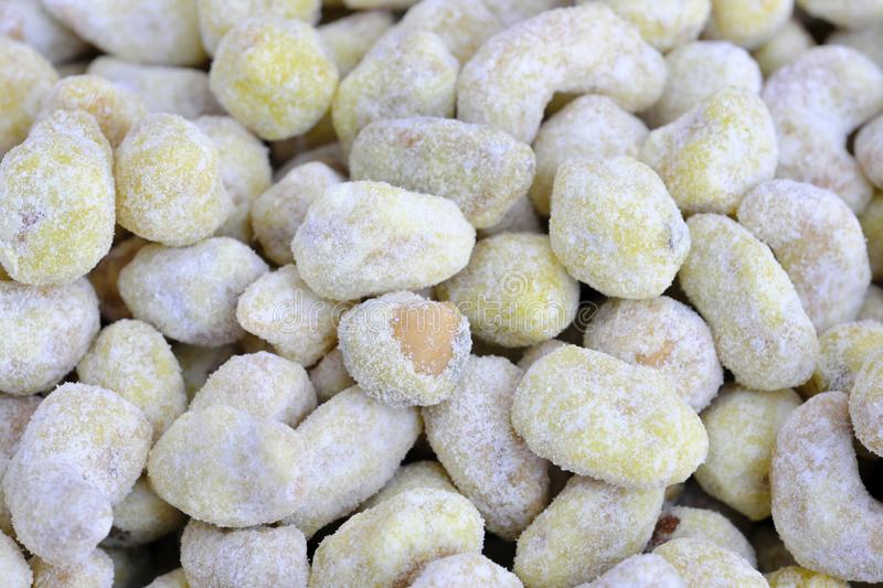 Roasted kernels of nuts stock photo
