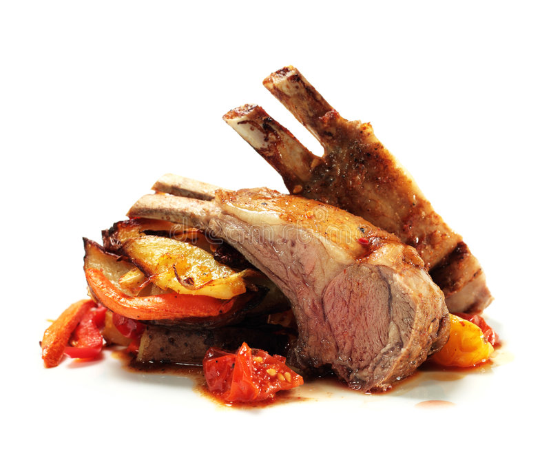 Download Roasted Lamb Chops Royalty Free Stock Photo - Image: 7953985