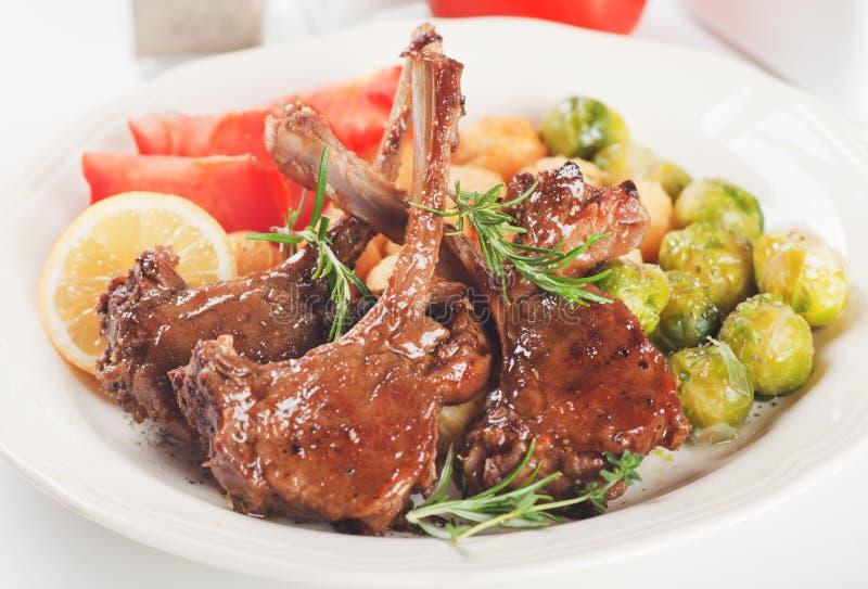Download Roasted lamb chops stock image. Image of lamb, vegetable - 31992539