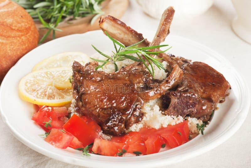 Roasted Lamb Ribs Stock Photos