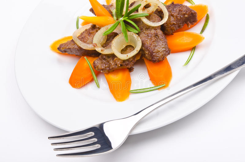 Download Roasted Liver With Vegetables Stock Photo - Image: 23637730