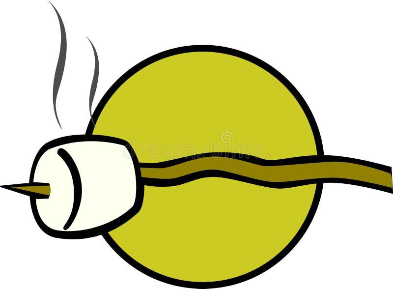 Roasted Marshmallow Vector Illustration Stock Image