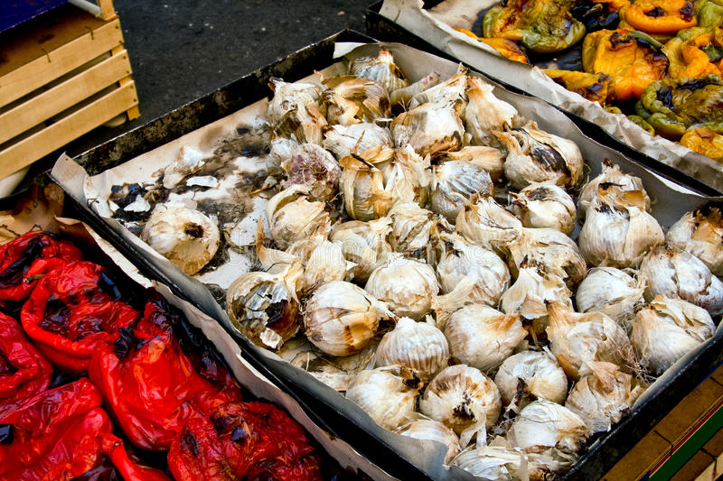 Download Roasted onions stock photo. Image of palermo, stall, horizontal - 24142878