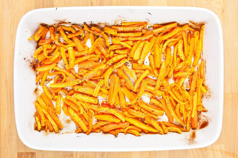 Download Roasted Organic Carrots In A Tray Stock Photo - Image of heat, close: 26381584