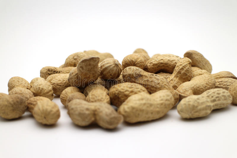 Roasted pea nuts stock images